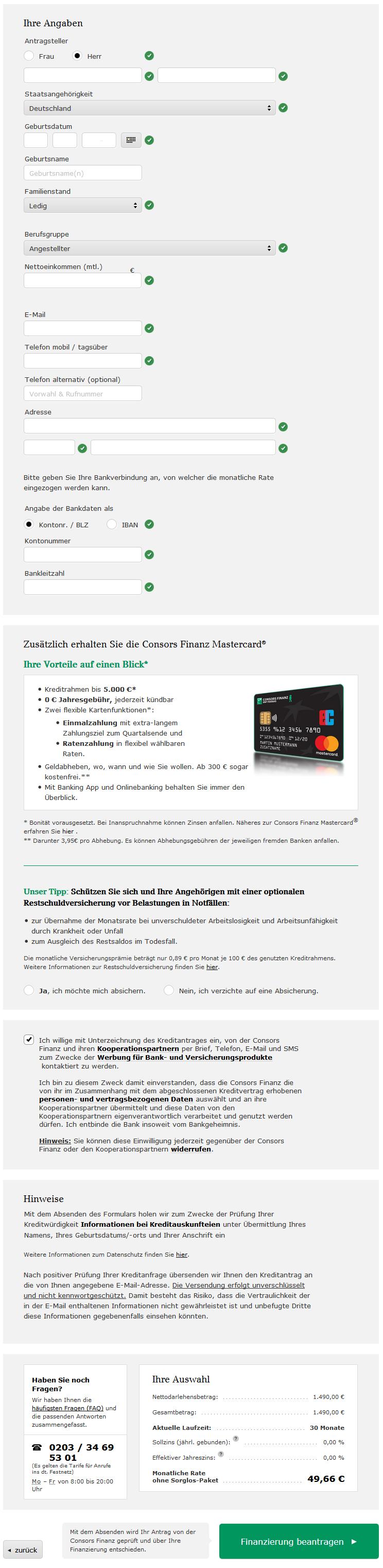 consors finanz mastercard kündigen