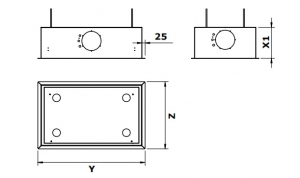 gutmann campo ii 05 em c umluft deckenhaube edelstahl und glas 96 cm ohne motor 05em960c mit. Black Bedroom Furniture Sets. Home Design Ideas