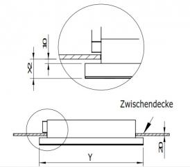 gutmann capa 07 em a extern deckenhaube edelstahl und glas 100 cm mit led beleuchtung ohne. Black Bedroom Furniture Sets. Home Design Ideas