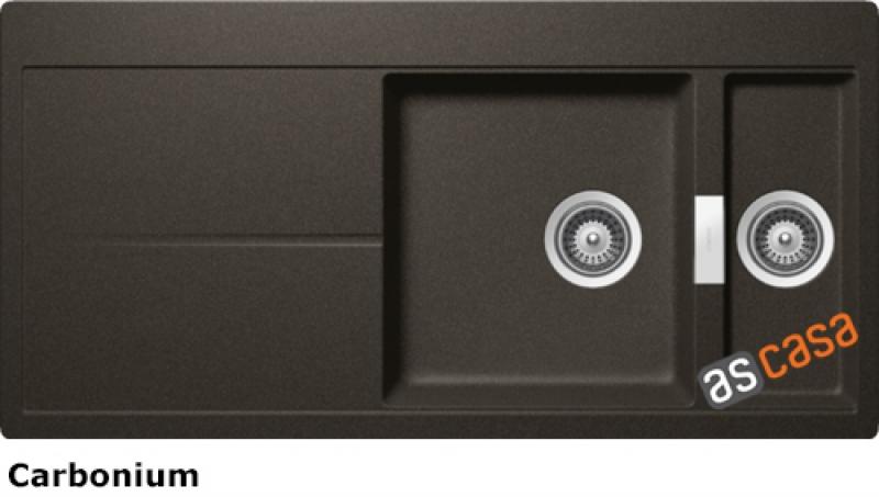 Schock Horizont D-150 A Einbau/Auflage, INKL. GLASSCHNEIDBRETT UND RESTESCHALE, Carbonium HON D 150 A S/G CAR