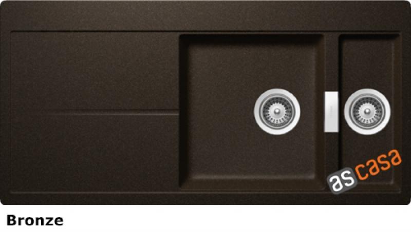 Schock Horizont D-150 A Einbau/Auflage, INKL. GLASSCHNEIDBRETT UND RESTESCHALE, Bronze HON D 150 A S/G BRO