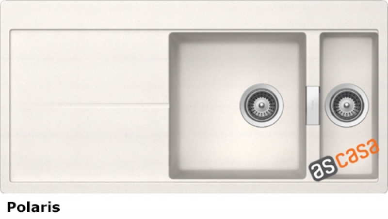 Schock Horizont D-150 A Einbau/Auflage, INKL. GLASSCHNEIDBRETT UND RESTESCHALE, Polaris HON D 150 A S/G POL