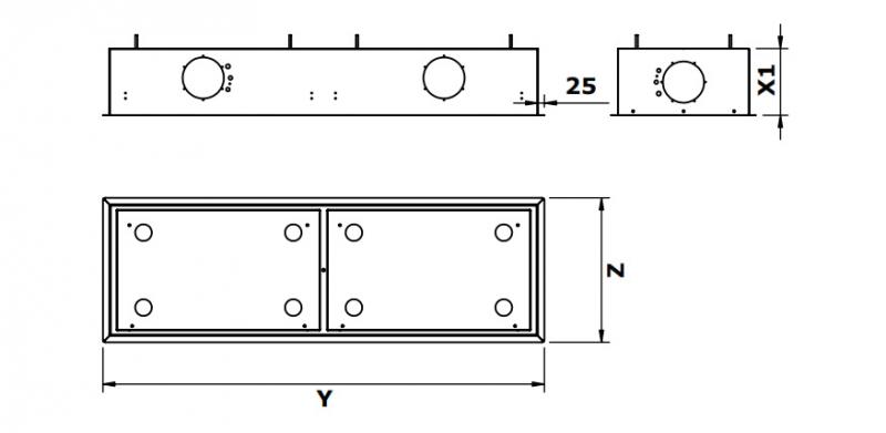 gutmann campo ii 05 em a extern deckenhaube edelstahl und glas 185 cm mit led beleuchtung. Black Bedroom Furniture Sets. Home Design Ideas
