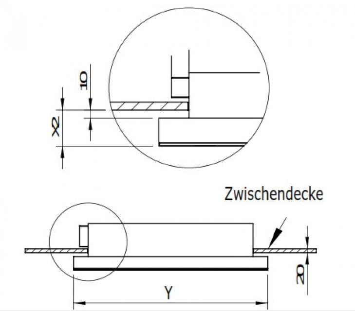 gutmann capa 07 em b intern deckenhaube edelstahl und glas 100 cm mit led beleuchtung mit. Black Bedroom Furniture Sets. Home Design Ideas