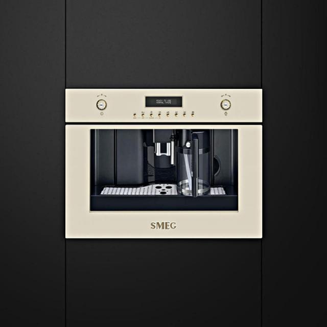 SMEG CMS8451P Nostalgie Einbau-Kaffeevollautomat | {Einbaukaffeevollautomaten 26}