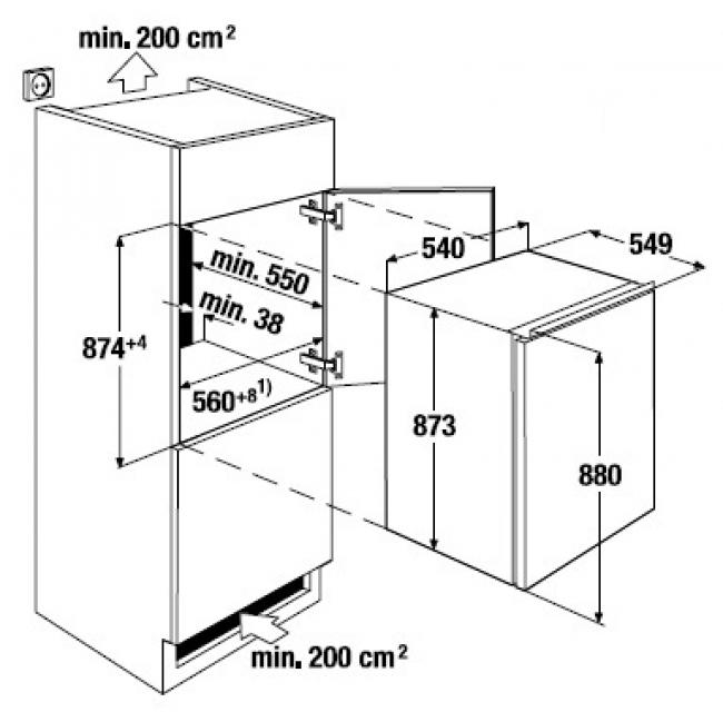 k ppersbusch ite 1260 2 einbau gefrierschrank. Black Bedroom Furniture Sets. Home Design Ideas