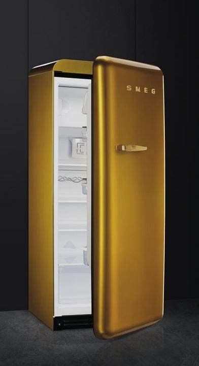 smeg fab28rdg standk hlschrank gold swarowski. Black Bedroom Furniture Sets. Home Design Ideas