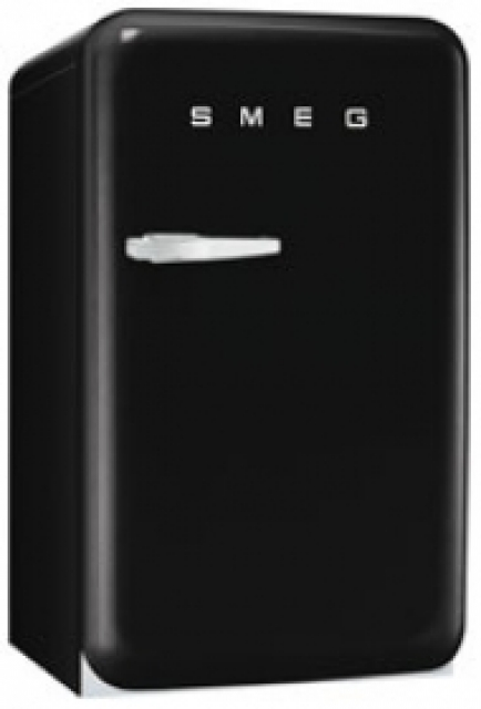 smeg fab10lne standk hlschrank schwarz. Black Bedroom Furniture Sets. Home Design Ideas