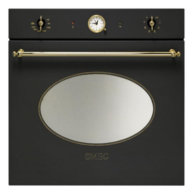 smeg sfp805a einbaubackofen anthrazit gold. Black Bedroom Furniture Sets. Home Design Ideas