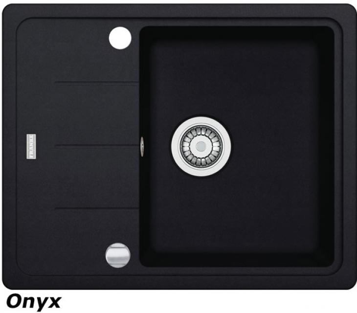 FRANKE BASIS BFG 611-62 Spüle Fragranit Onyx reversibel 114.0301.331 10082