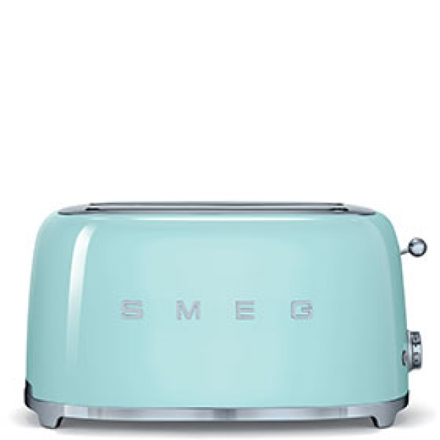 smeg tsf02pgeu toaster 4 scheiben farbe pastellgr n ebay. Black Bedroom Furniture Sets. Home Design Ideas