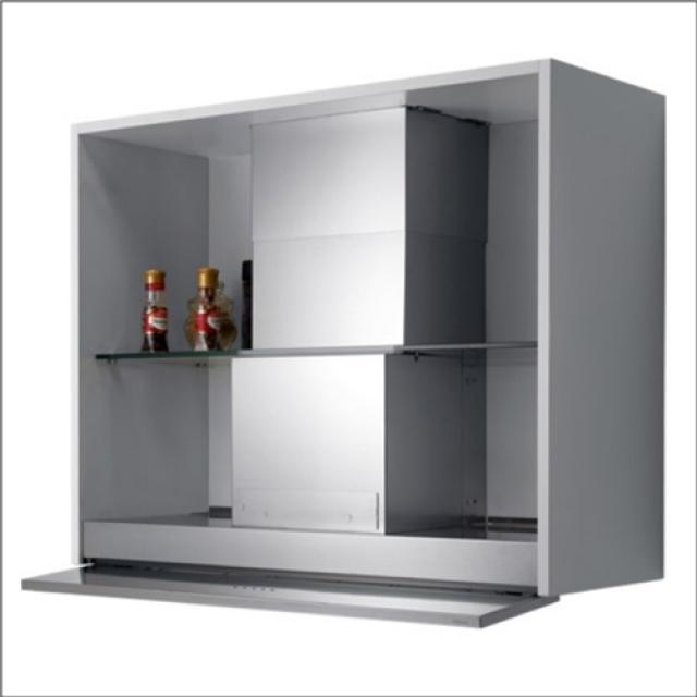 Falmec move design edelstahl 100284 for Schwarzes glas