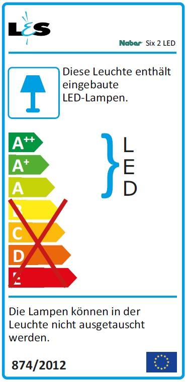 Lumica six 2 led einzelleuchte ohne schalter - Energieverbrauch kuhlschrank tabelle ...
