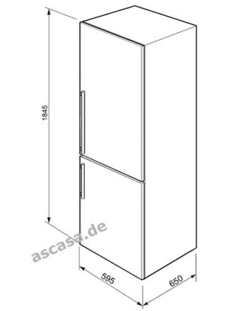 smeg fc370x2pe k hl gefrier kombination. Black Bedroom Furniture Sets. Home Design Ideas