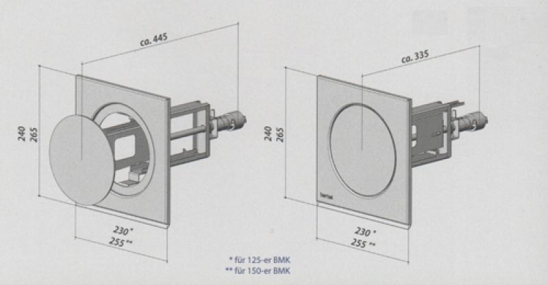 berbel mauerkasten bmk l 150 1001331. Black Bedroom Furniture Sets. Home Design Ideas