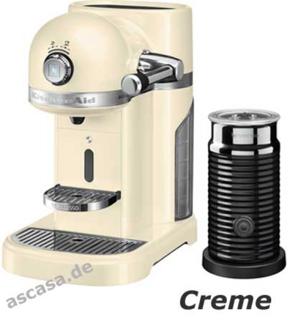 kitchenaid artisan nespresso kaffeemaschine mit milchaufsch umer 1 4 liter emp ebay. Black Bedroom Furniture Sets. Home Design Ideas