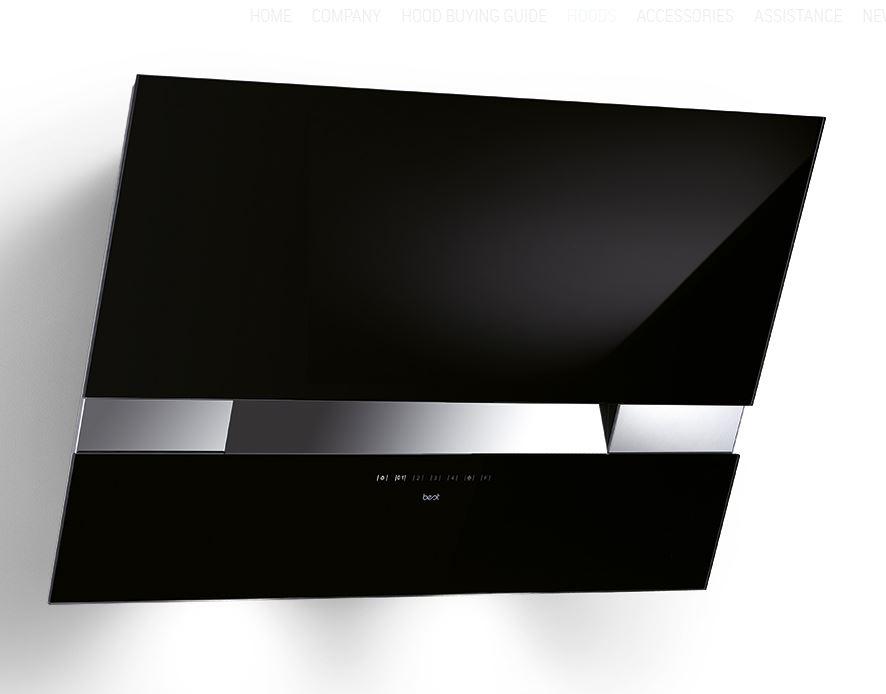 best kite touch hf 80 schwarz wandhaube 80 cm. Black Bedroom Furniture Sets. Home Design Ideas