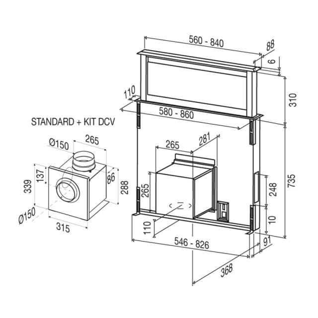 best strip 900 schwarz downdraft 7758050. Black Bedroom Furniture Sets. Home Design Ideas