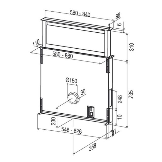 best strip glas schwarz 90 em 07758100 g. Black Bedroom Furniture Sets. Home Design Ideas