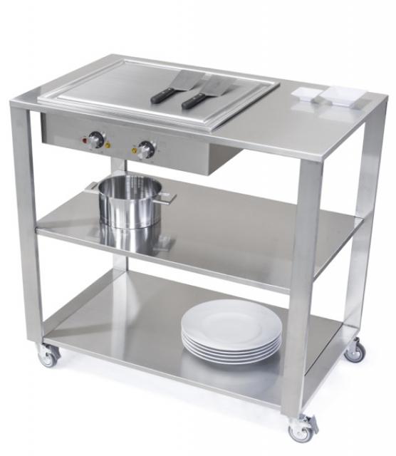 jokodomus teppanyaki k chenwagen edelstahl 669110. Black Bedroom Furniture Sets. Home Design Ideas