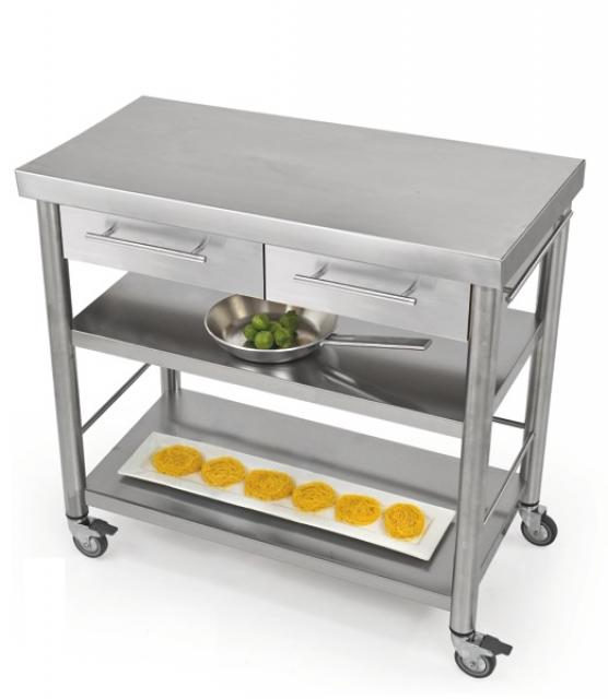 Küchenwagen edelstahl  Jokodomus Auxilium Base2 Küchenwagen, Edelstahl, 687802