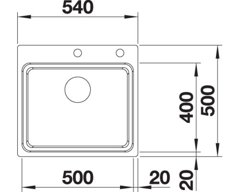 blanco etagon 500 if a etagenbecken 521748. Black Bedroom Furniture Sets. Home Design Ideas