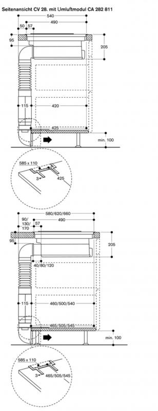 gaggenau cv 282 110 flex induktionskochfeld. Black Bedroom Furniture Sets. Home Design Ideas