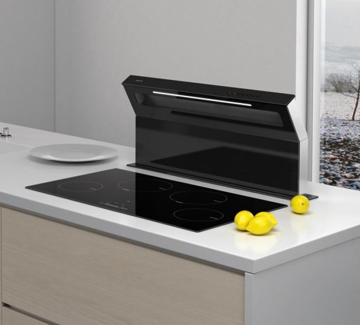 best swan slim downdraft tischhaube 90 cm. Black Bedroom Furniture Sets. Home Design Ideas