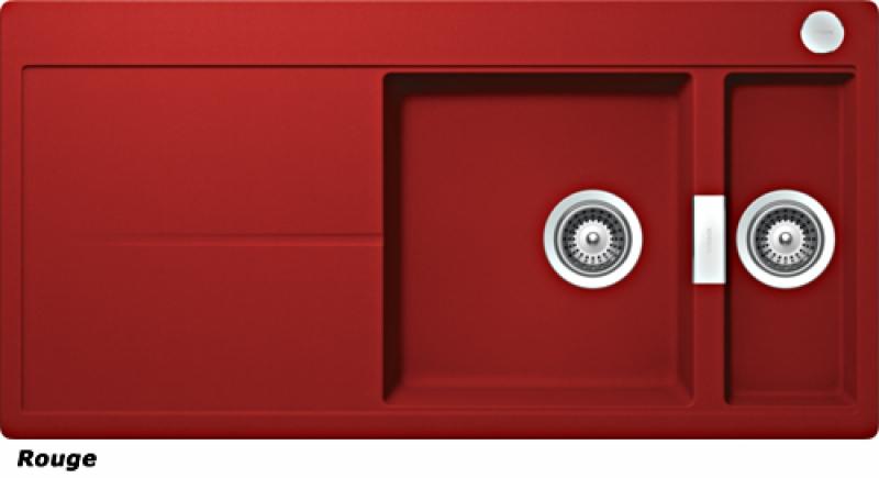 Schock Horizont D-150 A Einbau/Auflage, INKL. GLASSCHNEIDBRETT UND RESTESCHALE, Rouge HON D 150 A S/G ROU