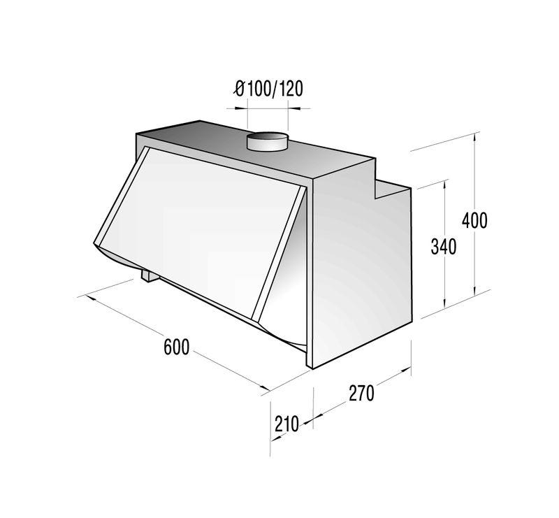 gorenje di 602 m zwischenbauhaube. Black Bedroom Furniture Sets. Home Design Ideas