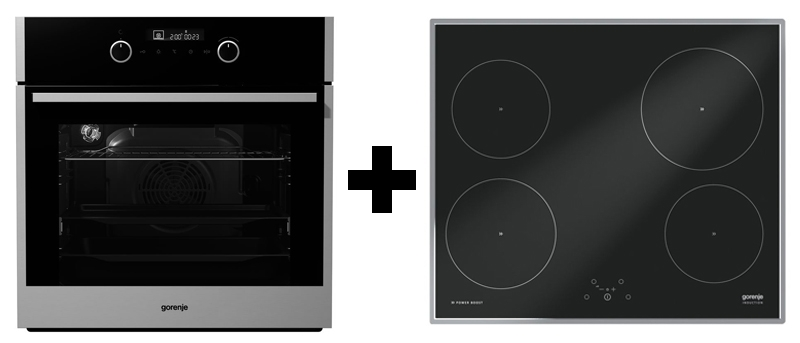 gorenje black pepper a05 backofen kochfeld set. Black Bedroom Furniture Sets. Home Design Ideas