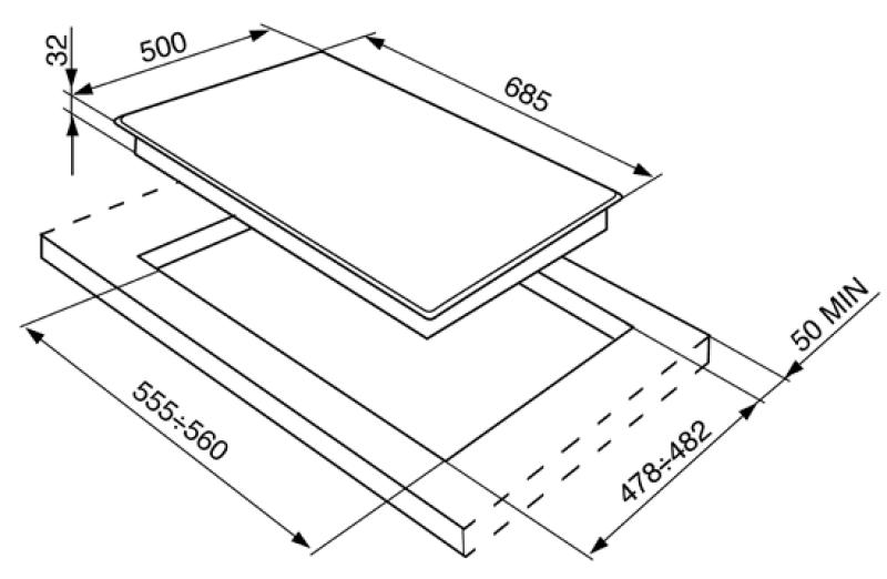smeg sdr575xg5 gaskochfeld edelstahl 70 cm. Black Bedroom Furniture Sets. Home Design Ideas
