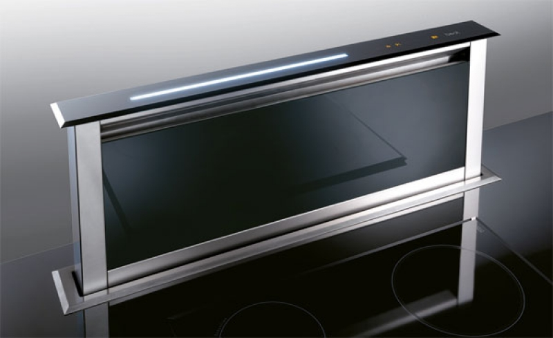 best lift glas schwarz 90 downdraft tischhaube. Black Bedroom Furniture Sets. Home Design Ideas
