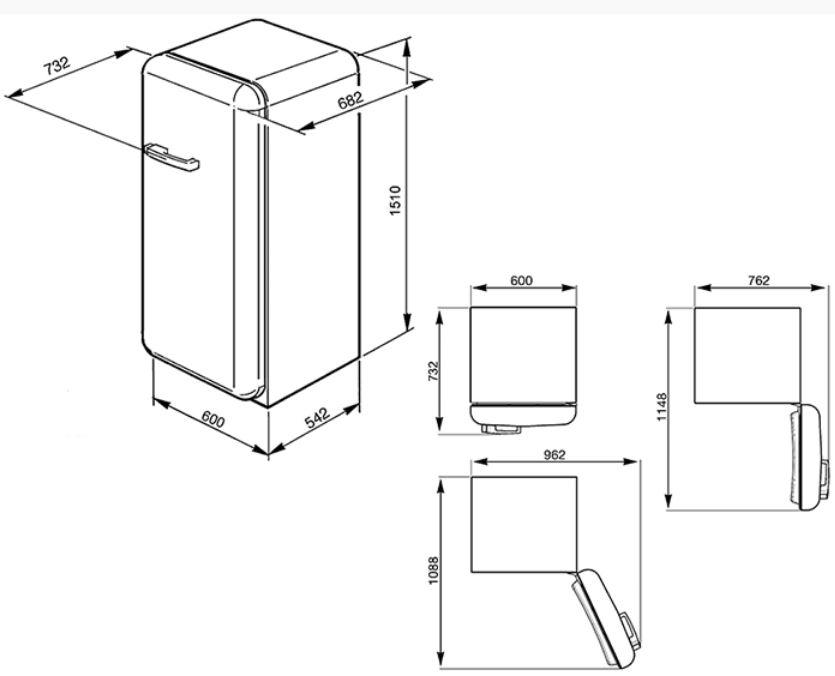 smeg fab28rg1 standk hlschrank sonnengelb. Black Bedroom Furniture Sets. Home Design Ideas