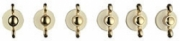 Smeg 6MP800P Set aus 6 Knebel, Creme / Gold Design